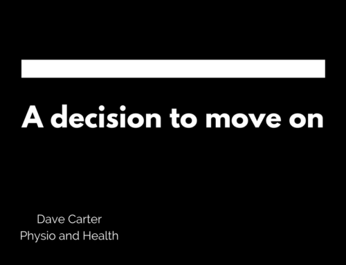 A Decision to Move On