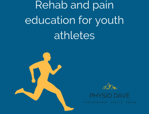 Rehab and pain education for youth athletes