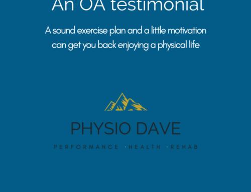 Osteoarthritis blog testimonial